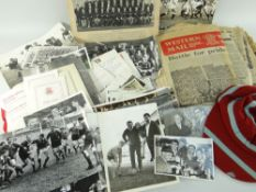 RUGBY UNION EPHEMERA RELATING TO FORMER WALES CAPTAIN NORMAN GALE (1939-215) comprising black and