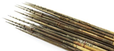COLLECTION OF HIGHLANDS BAMBOO ARROWS, Papua New Guinea (34)