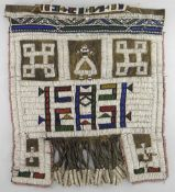 NDEBELE BEADED LEATHER APRON, Zimbabwe, 56 x 53cms