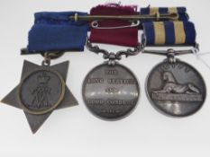 MEDALS: EGYPT CAMPAIGN GROUP comprising undated Egypt Medal (5044, Sergeant J. Merritt, M. S. Corps)