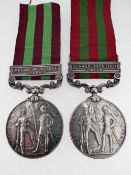 MEDALS: INDIA MEDAL, 1895-1902 (3134 PTE M. GLENNON 1st BATTALION EAST LANCASHIRE REGIMENT) with