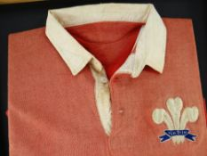 1924 WALES INTERNATIONAL RUGBY UNION JERSEY MATCH WORN BY JACK WETTER AGAINST NEW ZEALAND '