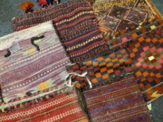 ASSORTED TRIBAL SADDLE BAGS all Soumaks (6) Condition Report: all with insect damage to pile, to