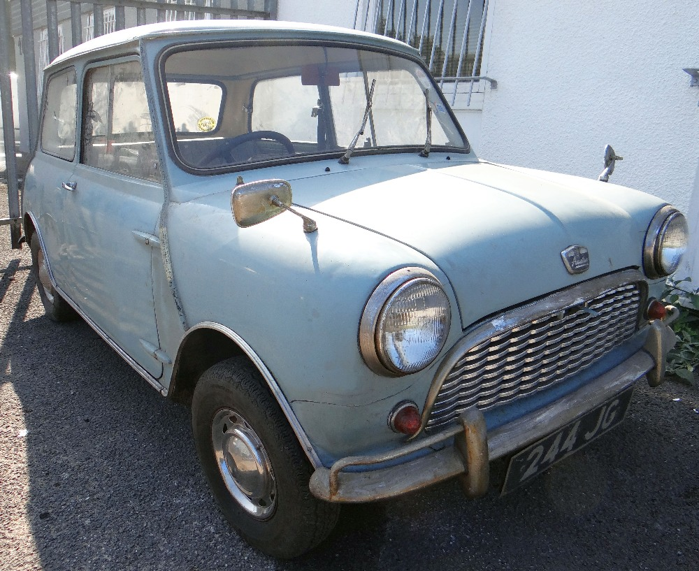 1963 AUSTIN MARK 1 MINI PETROL 848CC HAVING DATELESS/CHERISHED NUMBER PLATE '244 JG', in grey with - Image 2 of 79