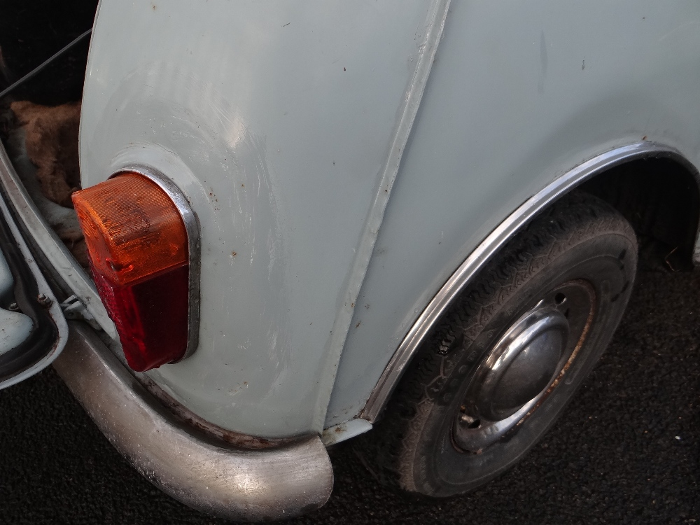 1963 AUSTIN MARK 1 MINI PETROL 848CC HAVING DATELESS/CHERISHED NUMBER PLATE '244 JG', in grey with - Image 34 of 79