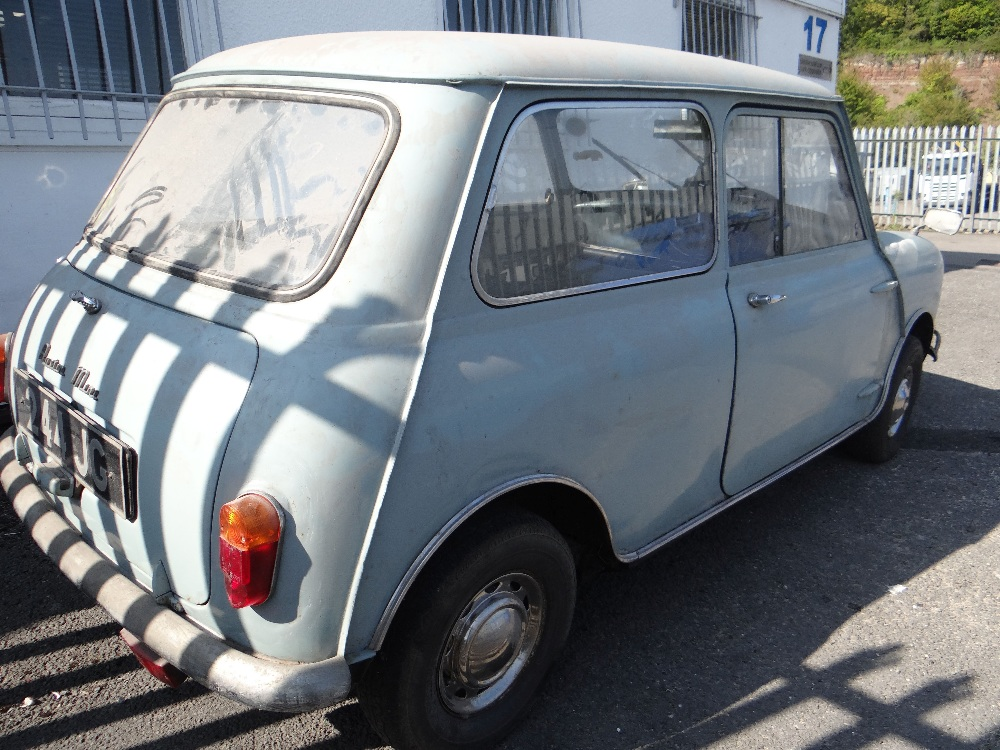 1963 AUSTIN MARK 1 MINI PETROL 848CC HAVING DATELESS/CHERISHED NUMBER PLATE '244 JG', in grey with - Image 6 of 79