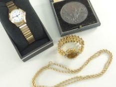 VAUGHTON PEMBROKE FARMERS CLUB SPECIAL PRIZE CASED MEDALLION, cased ladies Sekonda wristwatch,
