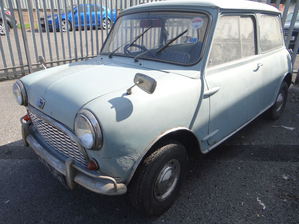 1963 AUSTIN MARK 1 MINI PETROL 848CC HAVING DATELESS/CHERISHED NUMBER PLATE '244 JG', in grey with - Image 5 of 79