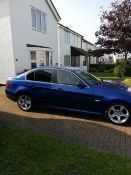 BMW 320 SALOON, Blue, Registration Number CX61 XEJ, Nov 2011 registered, untaxed, MOT to 11