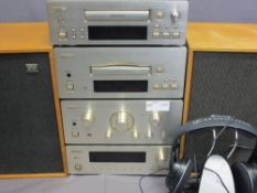 HIFI EQUIPMENT - Teac compact hifi system, pair of Wharfdale speakers and a Sennheiser wireless