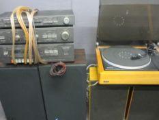 HIFI EQUIPMENT - Lenco L82 Swiss made turn table, Fidelity Radio Ltd pair of teak speakers and a