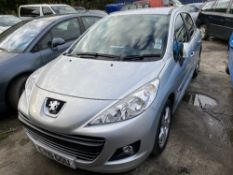 PEUGEOT 207 SPORT AUTO five door hatchback car, 1598cc, petrol, first registered July 2010,