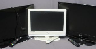 SMART TV, JVC ALSO AN LG TV & A WHITE COLOURED DVD/TV E/T