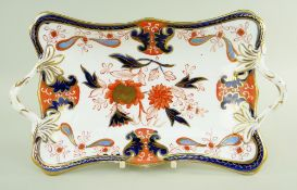 A SWANSEA PORCELAIN IMARI CENTRE DISH circa 1815-17 on a shaped rectangular base and with twig-