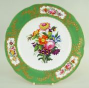 A NANTGARW PORCELAIN PLATE DECORATED IN THE SEVRES STYLE of shaped circular form and having an apple