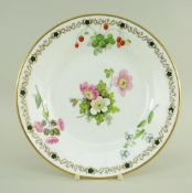 A SWANSEA PORCELAIN PLATE DECORATED BY WILLIAM POLLARD of circular form, painted with a centred