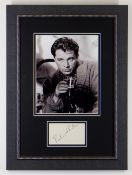 RICHARD BURTON AUTOGRAPH signed diagonally in pen on paper, presented in a modern frame with a