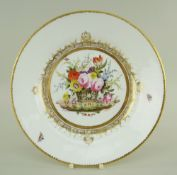 A SWANSEA PORCELAIN PLATE FROM THE BURDETT-COUTTS SERVICE painted by James Turner at the Sims