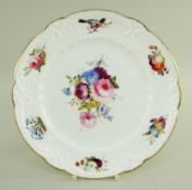 A NANTGARW DESSERT PLATE FROM THE BRACE SERVICE London decorated, probably in the Bradley