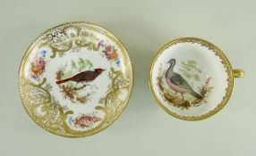 A NANTGARW PORCELAIN CUP & SAUCER FROM THE MACKINTOSH SERVICE decorated richly in gilding with