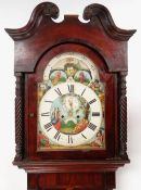 DOCUMENTARY MID-19TH CENTURY WELSH MAHOGANY LONGCASE CLOCK, by John Jones, Aberystwyth, c.1845, swan