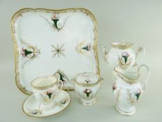 A RARE SWANSEA PORCELAIN CABARET SERVICE in the Empire style based on a Sèvres design, comprising