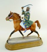 RARE BESWICK PORCELAIN FIGURE OF BEDOUIN ARAB HORSEMAN NO. 2275, Connoisseur series, printed and