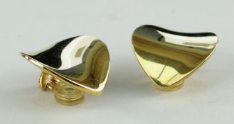 GEORG JENSEN 18CT GOLD EARRINGS, A PAIR, stamped '750' with maker's mark and numbered '1131 Danmark'