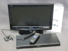 HOME ELECTRICS - Panasonic 19IN Flatscreen TV and a Blue Ray DVD player