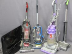 HOUSEHOLD ELECTRICS - Dyson, G Tech and other vacuum cleaners and a Samsung Flatscreen TV E/T