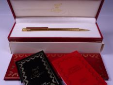 CARTIER MUST DE CARTIER TRINITY 3 ORS MECHANICAL PENCIL - Vintage 1990s Textured Gold Plated with