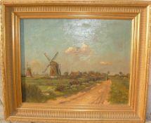 Chris Snyders (1881 Rotterdam-1943 ebd.). Sommermorgen. Öl/Lw. Sig. U.r. Datiert 1905. Rahmen ca.