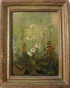 M. Bloos. Zauberhaftes Blumengemälde um 1900. Öl/Platte. Sig. U.l. Rahmen ca. 30x24cm.- - -22.00 %