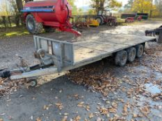 GRAHAM EDWARDS TRIAXLE FLAT TRAILER