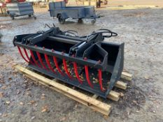 LOADER BUCKET & HYDRAULIC FORKS.2M