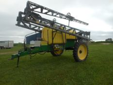 80' Sprayer Specialties XLRD 1250 gal. pull sprayer all hyd.