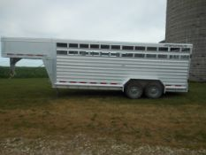 2011 7'X20' Featherlite aluminum goose neck trailer