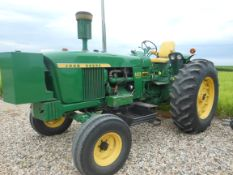 1966 JD 4020 Diesel, wide front, Synchro, front weights & tank, rock box, 18.4-34, quick coupler,