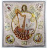 "Hermès ""Wolfang Amadeus Mozart"" scarf circa 1996"