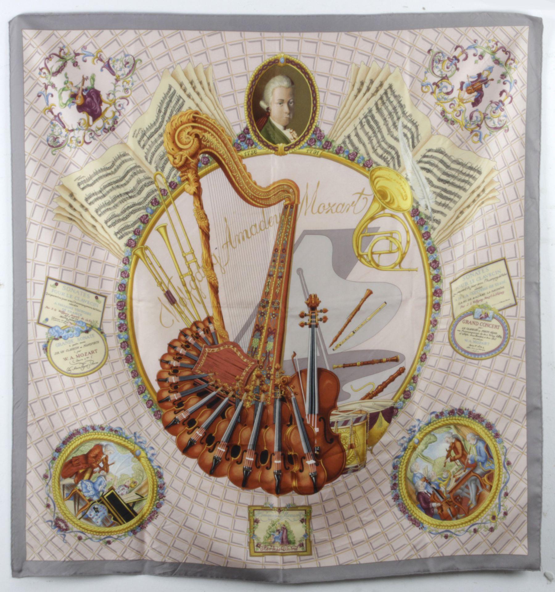 "Los 249 - Hermès ""Wolfang Amadeus Mozart"" scarf circa 1996"