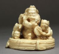 A late 19th century Japanese netsuke from Meiji period. Signed