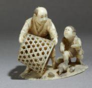 A mid 19th century Japanese netsuke okimono from Meiji period