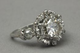 A first half of 20th century 1,75 ct. aprox. Old European cut diamond solitaire ring