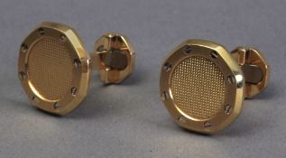 Audemars Piguet. Royal Oak cufflinks in 18k. yellow gold