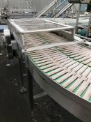 Curved 90 Degree Conveyor, with three lanes, dimen