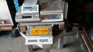Four Salter/ Metler & Avery Scales (power leads ex