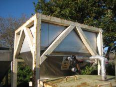 Stainless Steel Hopper, in mild steel frame. Overa