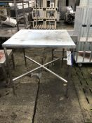 Plastic Topped Table, on stainless steel frame, di