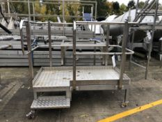 Mobile Two Rise Inspection Stand, with side rails,