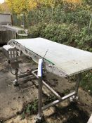 Mobile Sloping Conveyor, dimensions approx. 2.5m x